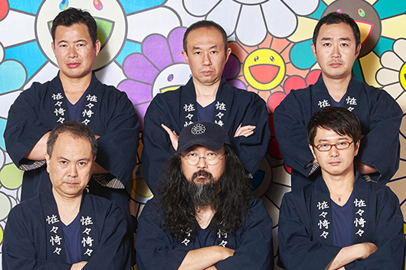 Next 5: Ένα arty σάκε, σινιέ Takashi Murakami - Χρυσοί Σκούφοι