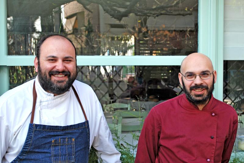 Ηλίας Μπαλάσκας(αριστερά) και Πασχάλης Καραμάνης