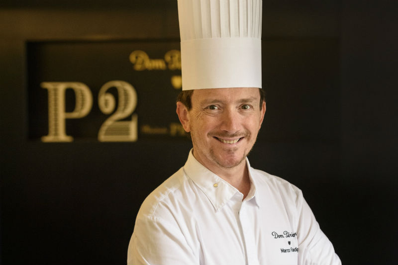 O executive chef της Μοet & Chandon Marco Fadiga - Χρυσοί Σκούφοι