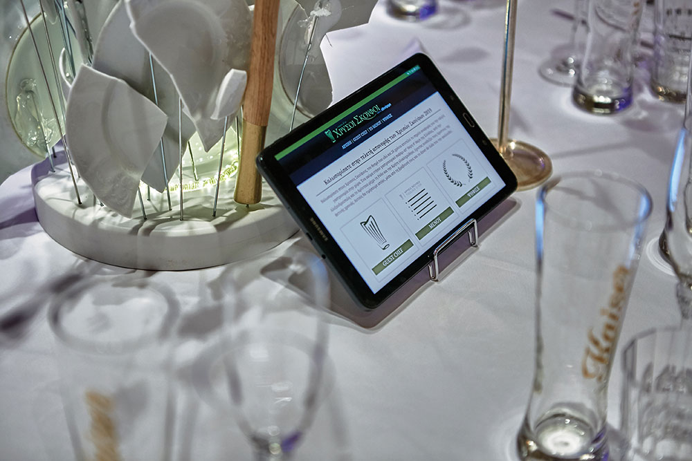 Στα τάμπλετ που έβρισκες στο τραπέζι μπορούσες να ψηφίσεις το πιάτο του μενού που σε ενθουσίασε περισσότερο αλλά και να τσεκάρεις την cloud εφαρμογή Cardlink Maître, που δίνει νέες δυνατότητες στους επαγγελματίες της εστίασης.