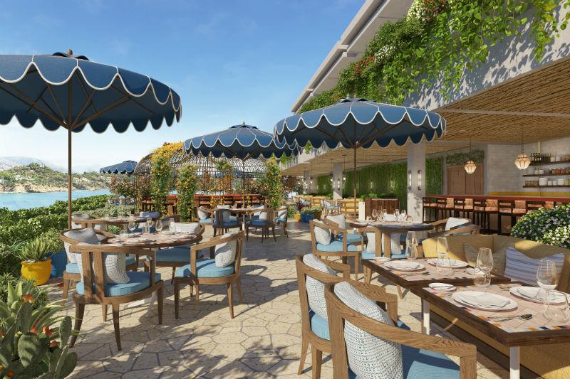 Θέα θάλασσα και βεράντα - meeting point προσφέρει το ιταλικό εστιατόριο «Mercato» - Χρυσοί Σκούφοι