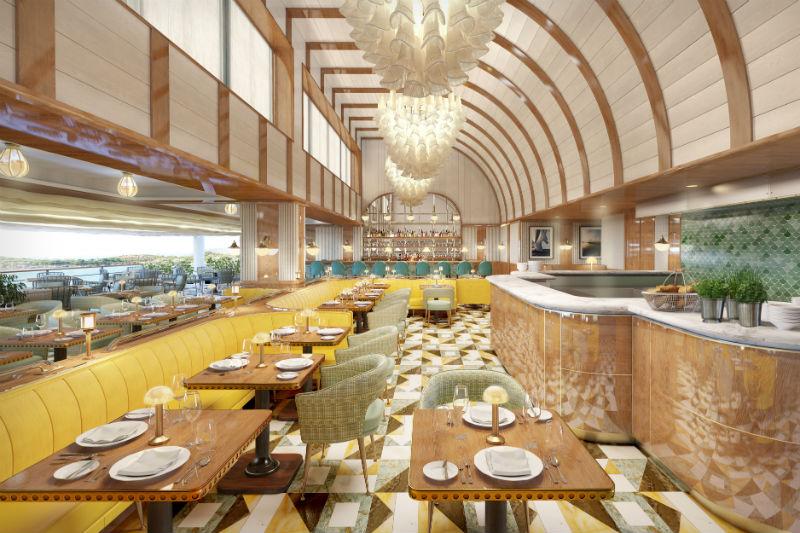 Το εστιατόριο θαλασσινών «Pelagos» θυμίζει πολυτελές ιστιοπλοϊκό