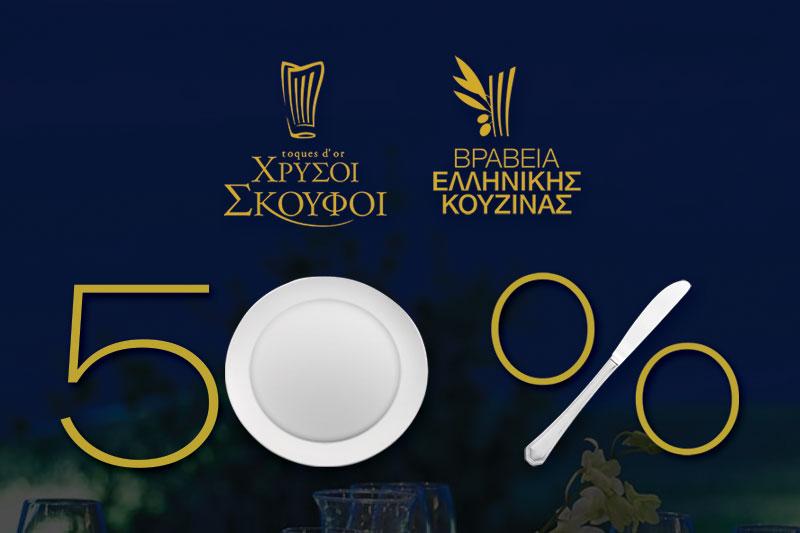 Ημέρες Βραβευμένης Γαστρονομίας 2019: Δες τα μενού και κλείσε θέση για να δοκιμάσεις τα καλύτερα εστιατόρια της Ελλάδας στο 50%! - Χρυσοί Σκούφοι