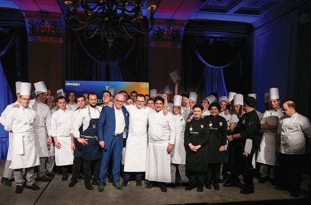 Η άψογη συνεργασία του Mauro Colagreco με τον Αστέριο Κουστούδη και την μπριγάδα του ήταν κρίσιμη για την επιτυχία της βραδιάς.